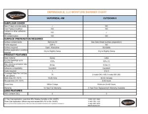 Moisture Barrier  Sheet