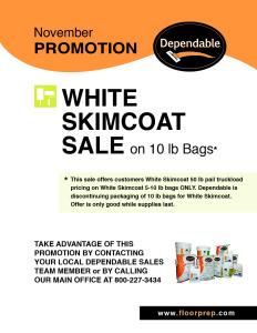 Dependables November Promotion White Skimcoat