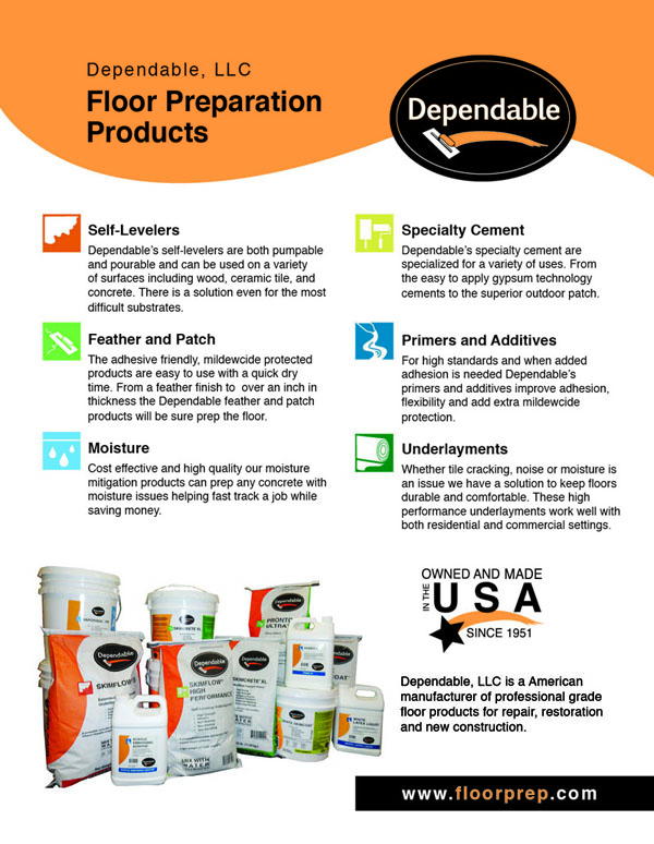 Dependable Product Brochure