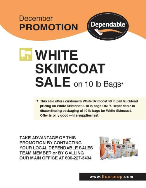 Dependables December Promotion White Skimcoat[1]